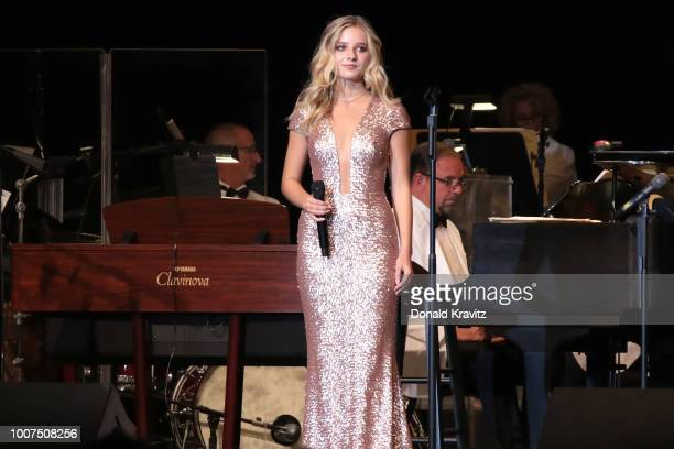Jackie Evancho performs her classical and crossover musical selections at the Ocean City Music Pier on July 29 2018 in Ocean City New Jersey