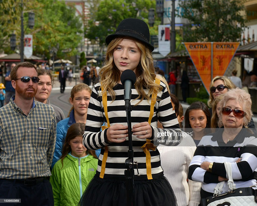 Jackie Evancho visits 'Extra' at The Grove on October 11, 2012 in Los Angeles, California.
