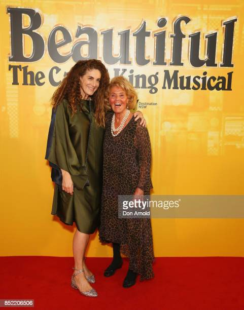 Jackie Frank and Lillian Frank arrives ahead of premiere of Beautiful The Carole King Musical at Lyric Theatre Star City on September 23 2017 in...