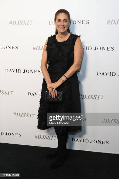 Jackie Frank arrives ahead of the David Jones Spring Summer 2017 Collections Launch at David Jones Elizabeth Street Store on August 9 2017 in Sydney...
