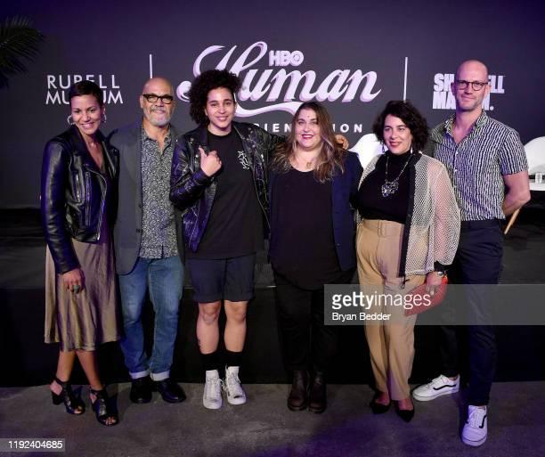 Jackie Gagne Tony Hernandez Shantell Martin Sarah Graalman Muriel Parra and Blaise Preau attend HBO's Human By Orientation panel at Art Basel Miami...