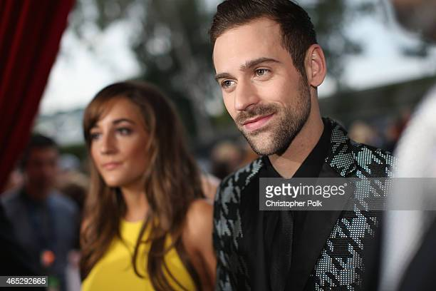 Jackie Ganger and recording artist Ryan Lewis attend the 56th GRAMMY Awards at Staples Center on January 26 2014 in Los Angeles California