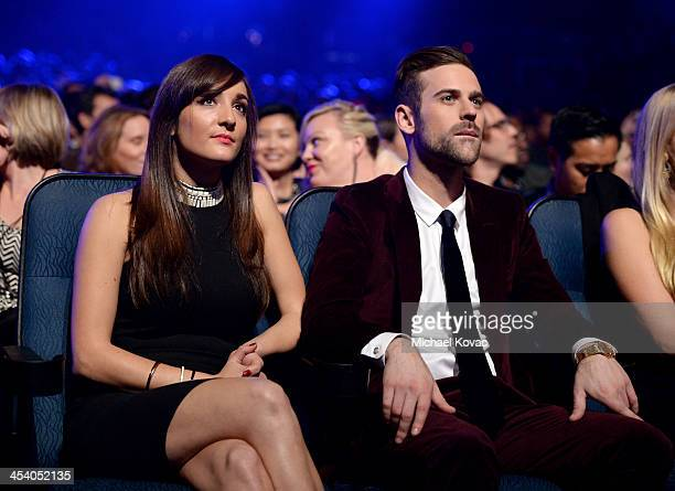 Jackie Ganger and recording artist Ryan Lewis attend The GRAMMY Nominations Concert Live Countdown to Music's Biggest Night at Nokia Theatre LA Live...