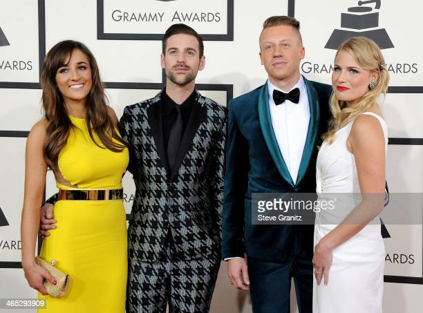 Jackie Ganger Ryan Lewis Ben 'Macklemore' Haggerty and Tricia Davis attends the 56th GRAMMY Awards at Staples Center on January 26 2014 in Los...