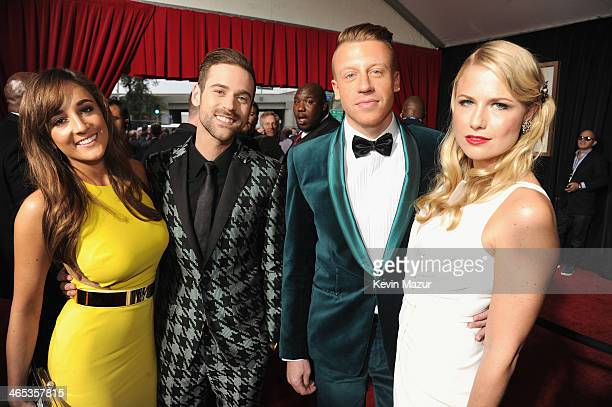 Jackie Ganger Ryan Lewis Ben 'Macklemore' Haggerty and Tricia Davis attend the 56th GRAMMY Awards at Staples Center on January 26 2014 in Los Angeles...