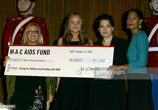 Jackie Gelfand Executive Director for Caring for Children Families with AIDS Amanda Bynes wearing MAC Viva Glam lipstick Lilia GarciaLeyva Executive...
