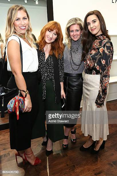 Jackie Giardina Megan Zietz Hallie Friedman and Natalie Zfat attend the Lafayette 148 store New York Fashion Week Event with Noelle Dubina and...
