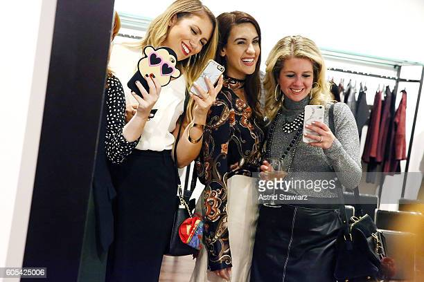 Jackie Giardina Natalie Zfat and Hallie Friedman attend the Lafayette 148 store New York Fashion Week Event with Noelle Dubina and Natalie Zfat at...