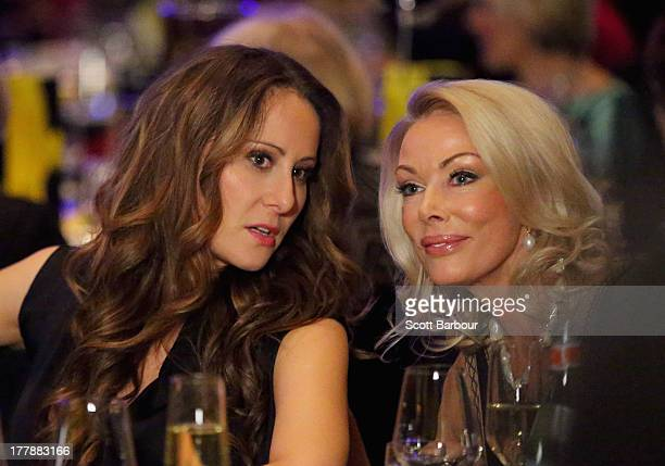 Jackie Gillies and Janet Roach from The Real Housewives of Melbourne look on as they attend the Wella Professionals Royal Children's Hospital Spring...