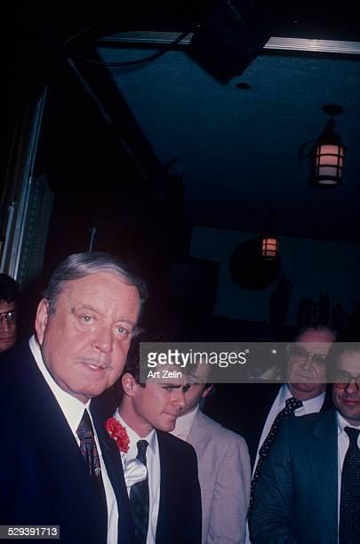 Jackie Gleason He always stayed at The Carlyle and wore a red carnation in his lapel circa 1970 New York