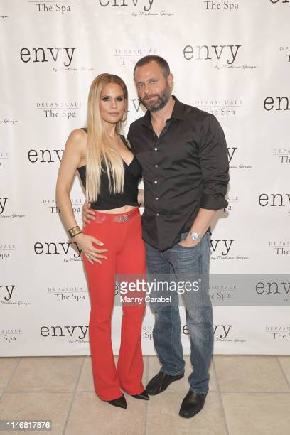 Jackie Goldschneider and Evan Goldschneider attend the Envy By Melissa Gorga Fashion Show on May 03, 2019 in Hawthorne, New Jersey.