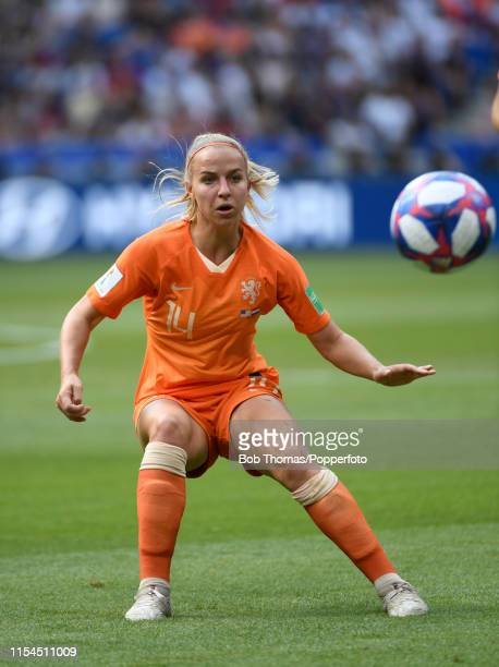 Jackie Groenen in action for the Netherlands during the 2019 FIFA Women's World Cup France Final match between The United States of America and The...