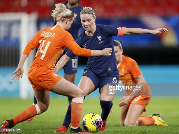 Jackie Groenen of Holland Women, Amadine Henry of France Women during the women's international friendly Tournoi de France match between France and...