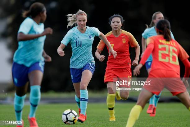 Jackie Groenen of Holland Women during the Algarve Cup Women match between China PR v Holland at the Estadio Municipal de Albufeira on March 6, 2019...