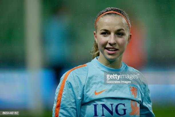 Jackie Groenen of Holland Women during the match between Training Holland Women at the Noordlease stadium on October 23 2017 in Groningen Netherlands