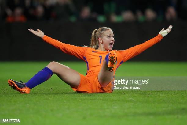 Jackie Groenen of Holland Women during the World Cup Qualifier Women match between Holland v Norway at the Noordlease stadium on October 24 2017 in...