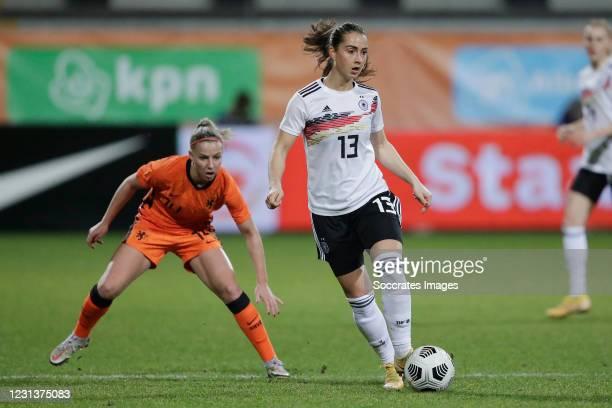 Jackie Groenen of Holland Women, Sara Dabritz of Germany Women during the International Friendly Women match between Holland v Germany at the Seacon...