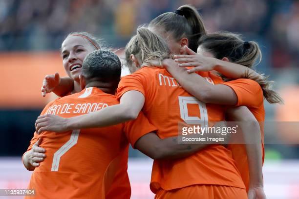 Jackie Groenen of Holland Women Shanice van de Sanden of Holland Women Vivianne Miedema of Holland Women Lieke Martens of Holland Women Danielle van...