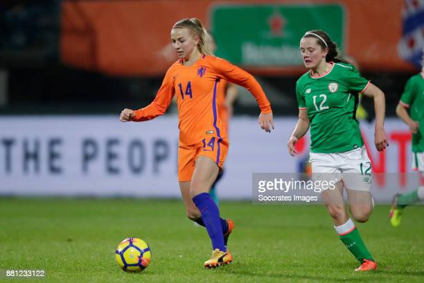 Jackie Groenen of Holland Women Tyler Toland of Republic of Ireland during the World Cup Qualifier match between Holland v Republic of Ireland at the...
