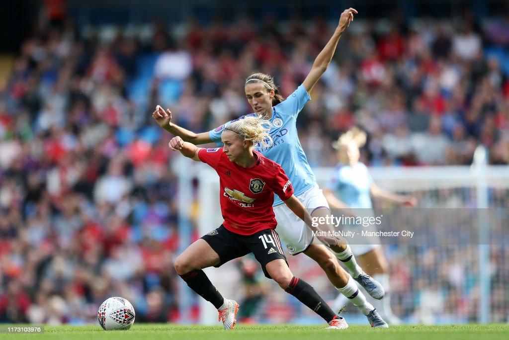 Manchester City v Manchester United - Barclays FA Women's Super League : News Photo