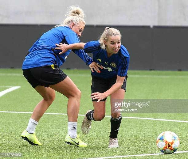 Jackie Groenen of Manchester United Women in action during a training session on July 31 2019 in Valerenga Norway