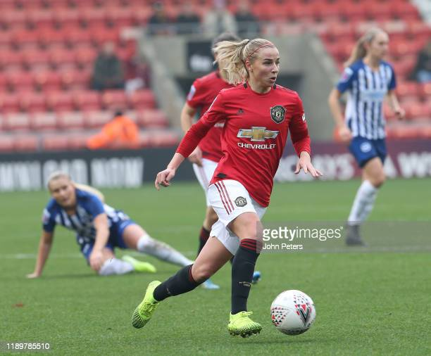 Jackie Groenen of Manchester United Women in action during the Barclays FA Women's Super League match between Manchester United and Brighton Hove...