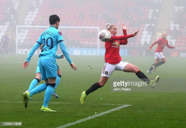 Jackie Groenen of Manchester United Women in action during the Barclays FA Women's Super League match between Manchester United and Tottenham Hotspur...