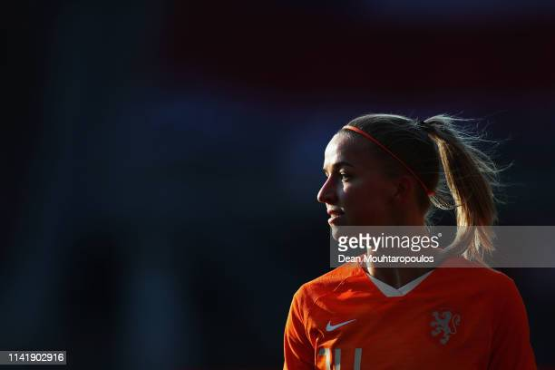 Jackie Groenen of Netherlands looks on during the International Friendly Women's match between Netherlands and Chile at AFASStadium on April 09 2019...
