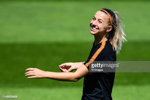 Jackie Groenen of Netherlands women during a training session prior to the FIFA Women's World Cup France 2019 group E match between The Netherlands...