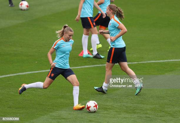 Jackie Groenen of the Netherlands in action during the Netherlands Training Session at FC Twente Stadion on August 2 2017 in Enschede Netherlands