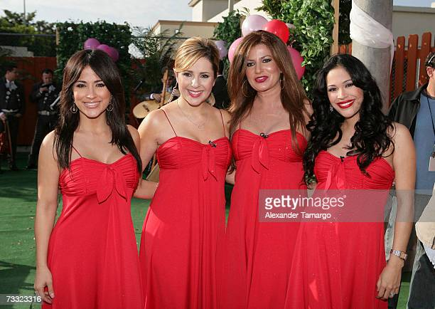 Jackie Guerrido Ana Maria Canseco Paola Gutierrez and Karla Martinez appear at the dog wedding of Cosita and Pucci on Univision's Despierta America...
