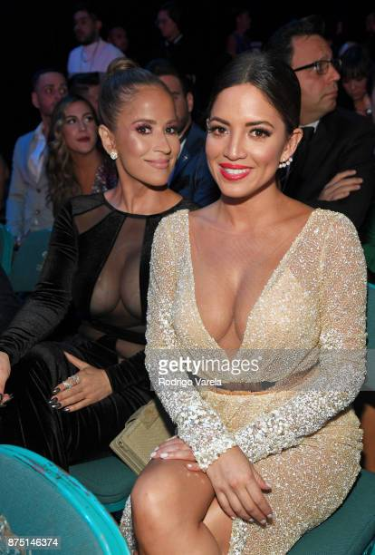 Jackie Guerrido and Pamela Silva Conde attend The 18th Annual Latin Grammy Awards at MGM Grand Garden Arena on November 16 2017 in Las Vegas Nevada