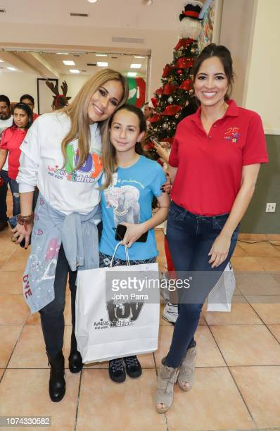 Jackie Guerrido and Pamela Silva Conde attend the Amigos For Kids 27th Annual Holiday Toy Drive on December 16 2018 in Miami Florida