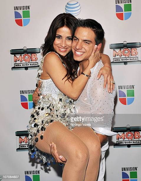 Jackie Guerrido and Vadhir Derbez attends the grand finale of Univision's Mira Quien Baila at Greenwich Studios on November 21 2010 in Miami Florida