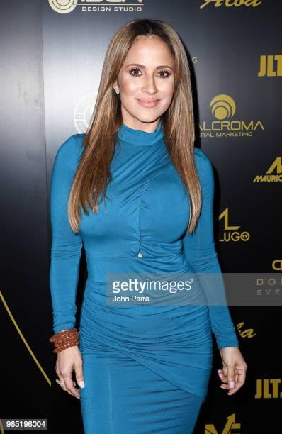 Jackie Guerrido arrives at Premios Estrellas Digitales 2018 at James L Knight Center on May 31 2018 in Miami Florida