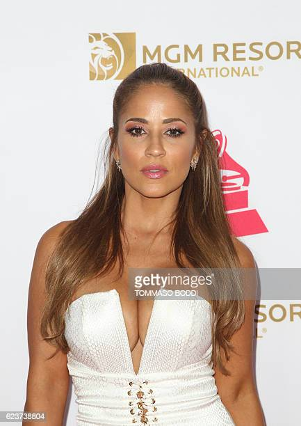 Jackie Guerrido attends 2016 Latin GRAMMY's Person Of The Year honoring Marc Anthony at the MGM Grand on November 16 2016 in Las Vegas Nevada / AFP /...