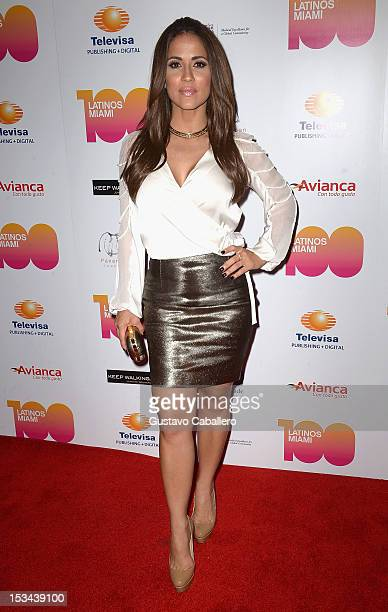 Jackie Guerrido attends Miami's 100 Most Influential Latinos at Miami Dade College on October 4 2012 in Miami Florida