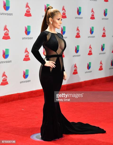 Jackie Guerrido attends the 18th Annual Latin Grammy Awards at MGM Grand Garden Arena on November 16 2017 in Las Vegas Nevada