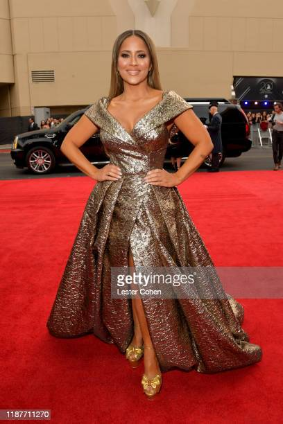 Jackie Guerrido attends the 20th annual Latin GRAMMY Awards at MGM Grand Garden Arena on November 14 2019 in Las Vegas Nevada