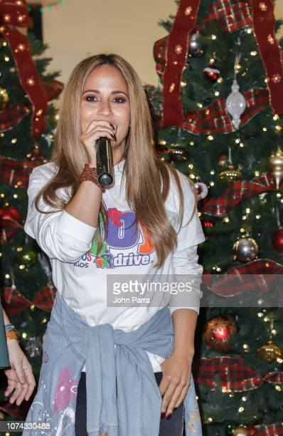 Jackie Guerrido attends the Amigos For Kids 27th Annual Holiday Toy Drive on December 16 2018 in Miami Florida