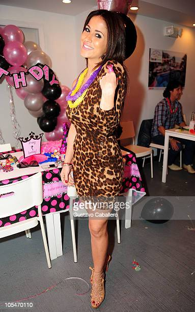Jackie Guerrido attends the birthday celebration for Rosa Gloria Chagoyan at La Lupita on October 14, 2010 in Miami, Florida.