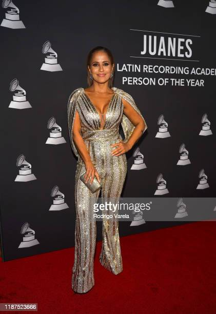 Jackie Guerrido attends the Latin Recording Academy's 2019 Person of the Year gala honoring Juanes at the Premier Ballroom at MGM Grand Hotel Casino...