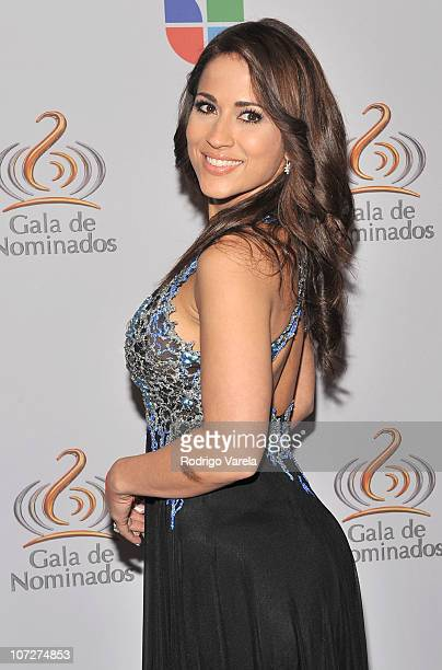 Jackie Guerrido attends Univision's 2011 Premios Lo Nuestro Nomination Celebration on December 2 2010 in Miami Florida