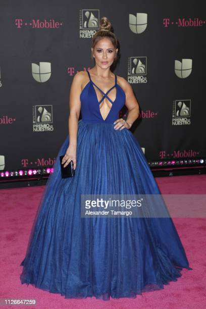 Jackie Guerrido attends Univision's 31st Edition Of Premio Lo Nuestro A La Musica Latin at American Airlines Arena on February 21 2019 in Miami...