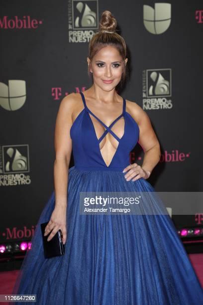 Jackie Guerrido attends Univision's 31st Edition Of Premio Lo Nuestro A La Musica Latin at American Airlines Arena on February 21, 2019 in Miami,...