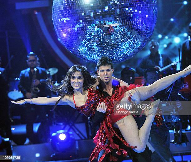Jackie Guerrido dances the grand finale of Univision's Mira Quien Baila at Greenwich Studios on November 21 2010 in Miami Florida