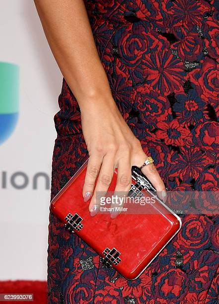 Jackie Guerrido fashion detail attends The 17th Annual Latin Grammy Awards at TMobile Arena on November 17 2016 in Las Vegas Nevada