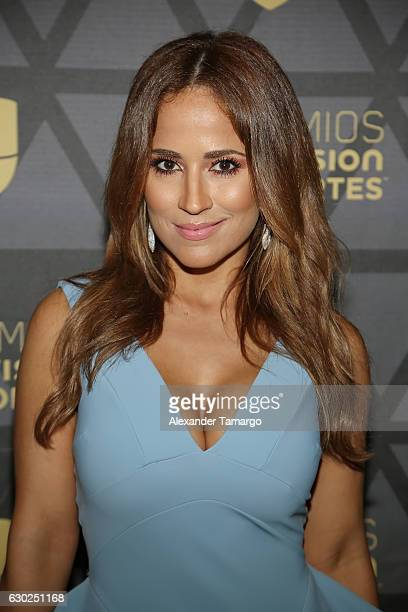 Jackie Guerrido is seen arriving at Premios Univision Deportes 2016 on December 18 2016 in Miami Florida
