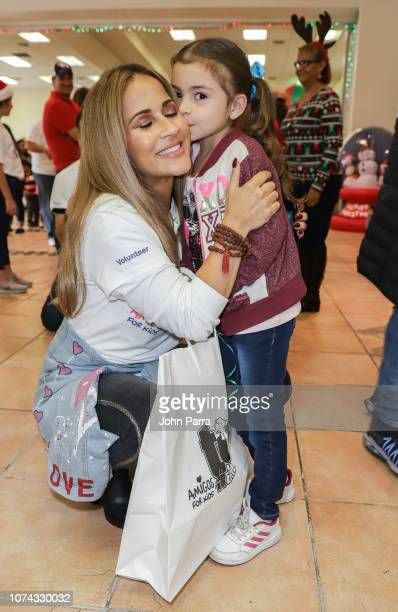 Jackie Guerrido is seen at Amigos For Kids 27th Annual Holiday Toy Drive on December 16 2018 in Miami Florida
