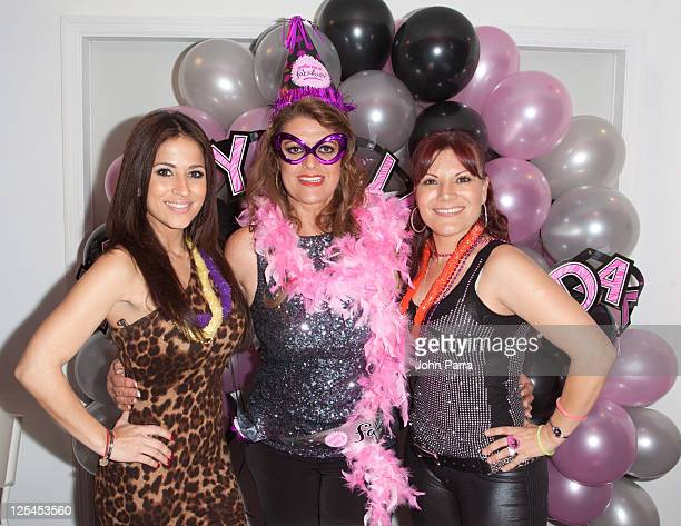 Jackie Guerrido Rosa Gloria Chagoyan and Diana Reyes attend the birthday celebration for Rosa Gloria Chagoyan at La Lupita on October 14 2010 in...